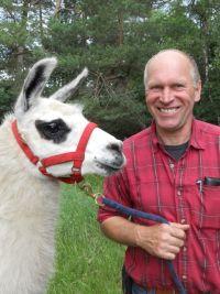 Dietmar Preißler und ein Lama