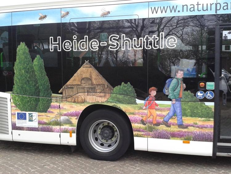 Naturpark-Bus: hintere rechte Seitenansicht