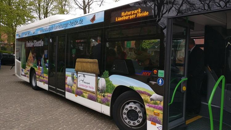Naturpark-Bus: Seitenansicht von vorn