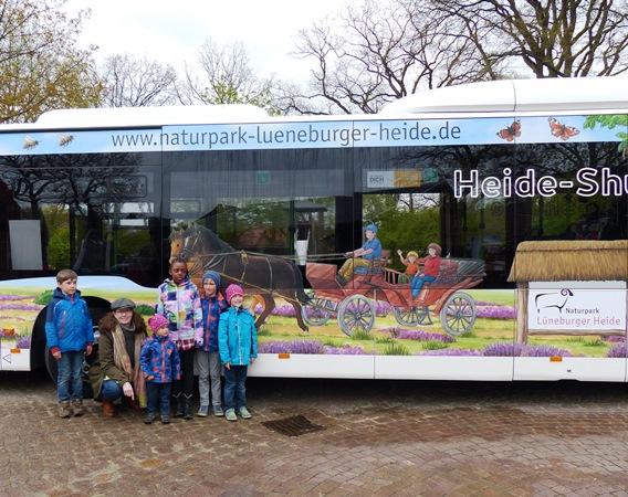 Naturparkbus wirbt ab sofort für die Lüneburger Heide