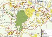 Übersichtskarte Schutzgebiet Naturpark Lüneburger Heide