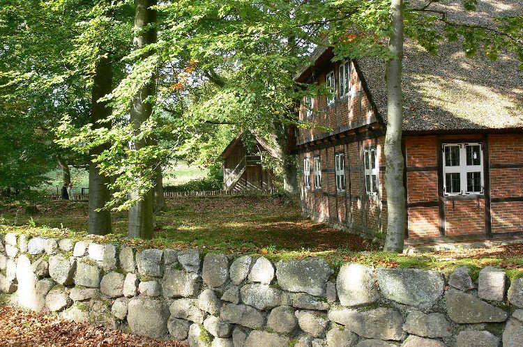 Häuser im Heidedorf Wilsede
